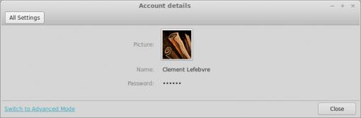 cinnamon_account_details